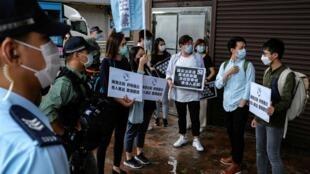 5月22日香港抗议者