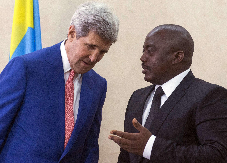 John Kerry, le secrétaire d'Etat américain, a rencontré Joseph Kabila, président congolais, ce dimanche 4 mai à Kinshasa.