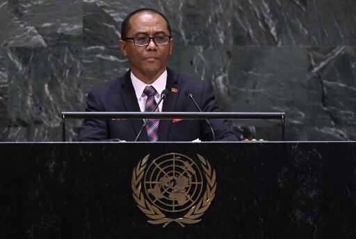 Dionísio Babo Soares, ministro timorense dos Negócios Estrangeiros e Cooperação, na Assembleia Geral da ONU a 30 de Setembro de 2019.