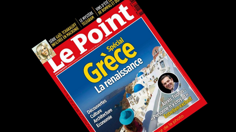 Capa da revista semanal Le Point sobre os avanços da Grécia, apesar da crise.
