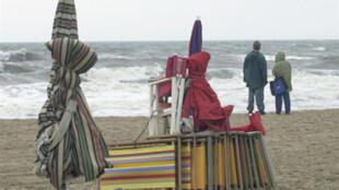La plage de Trouville, en Normandie.