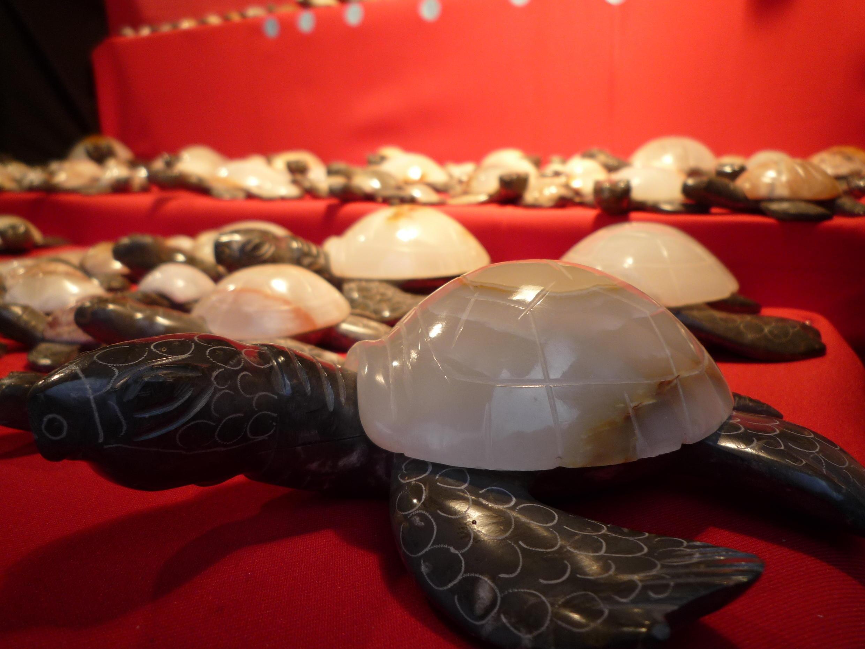 Rùa làm từ Ngà voi sinh học tại cửa hàng của anh Antoine