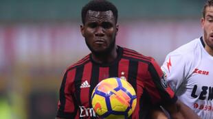 L'Ivoirien Franck Kessié, sous les couleurs de l'AC Milan, a brillé à Cagliari. Le milieu de terrain a marqué deux buts.
