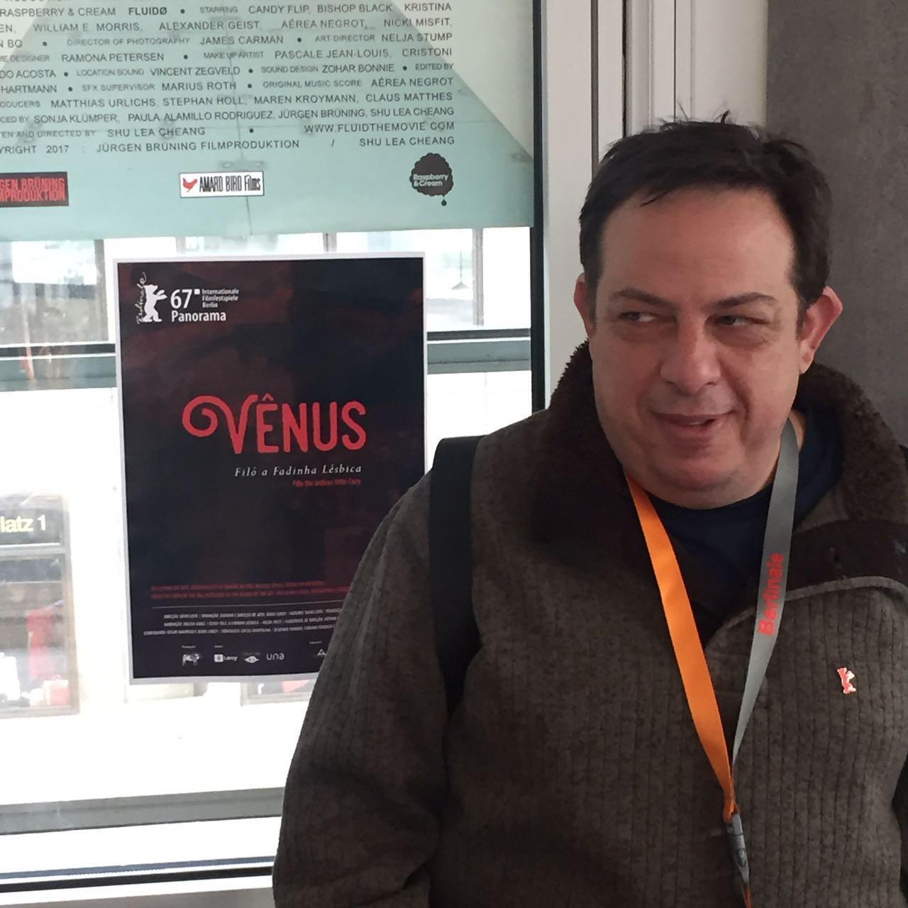 Diretor mineiro Sávio Leite no Festival de Cinema de Berlim.