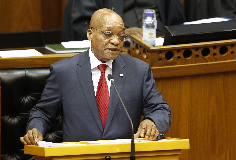 Rais wa Afrika Kusini Jacob Zuma, akilihutubia Bunge kuhusu ghasia dhidi ya wageni zinazoendelea Afrika Kusini.