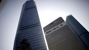 Le siège de la banque britannique HSBC à Shanghai, en Chine.
