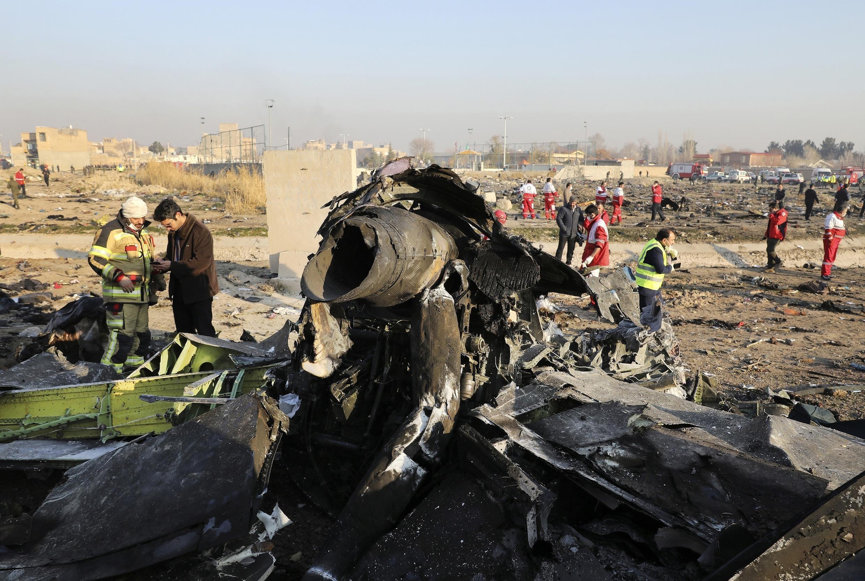 Iran - Ukraine - Avion battu
