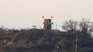 Ảnh minh họa: Vùng biên giới hai miền Nam Bắc Triều Tiên ở Bàn Môn Điếm. Ảnh 03/01/2018.
