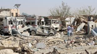 تصویری از یکی از حملات انتحاری در افغانستان