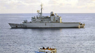 The French frigate  le Nivose sent to the region to tackle pirates