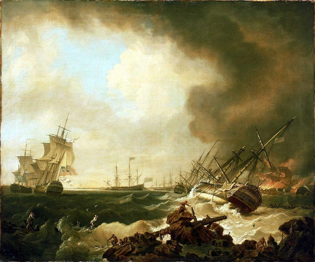 Le «Thésée», fleuron de la flotte royale, a coulé lors de la bataille des Cardinaux, le 20 novembre 1759.