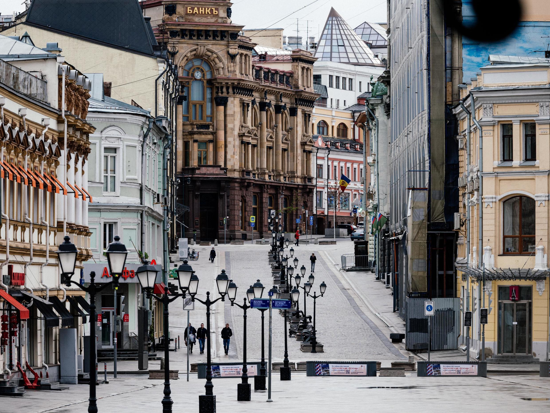Улицы Москвы, опустевшие во время карантина.