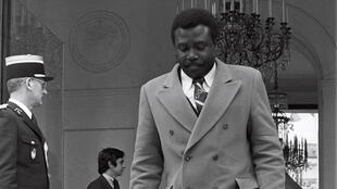 Le président congolais Yhombi Opango à Paris, en 1978.