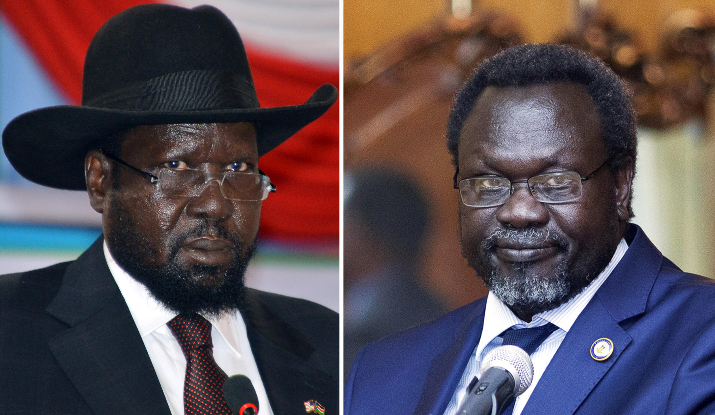 Salva Kiir (à gauche) et Riek Machar (à droite) (photos d'archives).