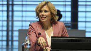 La ministre allemande de l'Agriculture Julia Kolckner, lors de la réunion des ministres européens de l'Agriculture, à Luxembourg, le 19 octobre 2020.