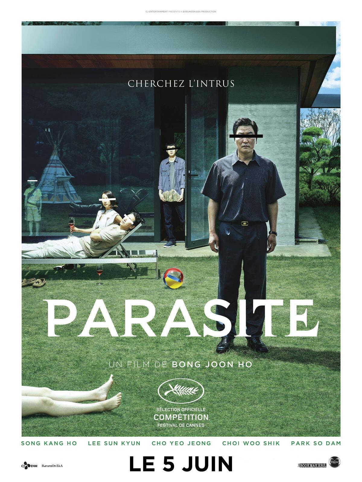 L'affiche de «Parasite» du réalisateur sud coréen Bong Joon-ho.