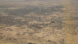 Vue aérienne d'Abéché, au Tchad.