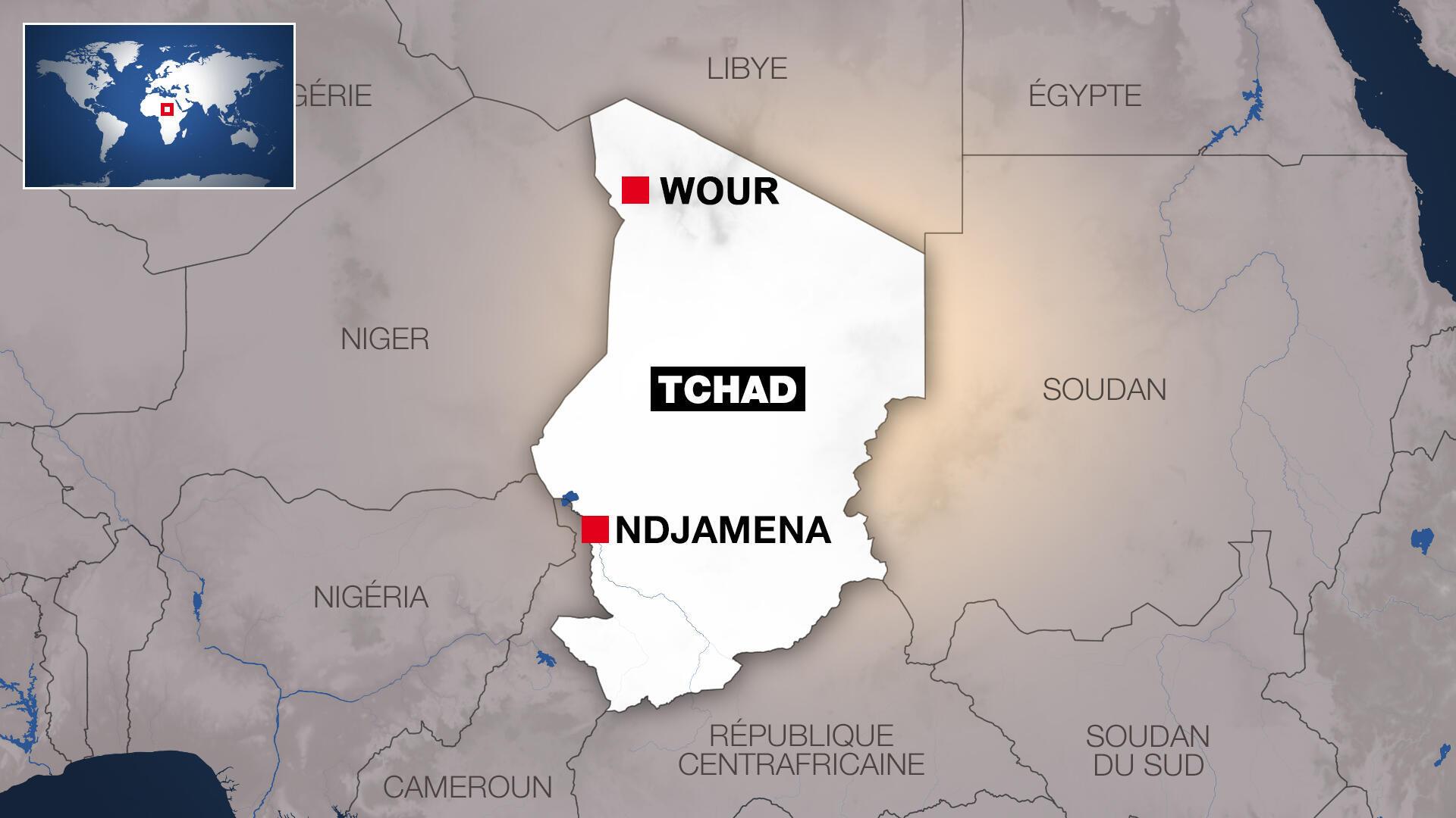 Tchad - N'Djamena - Carte