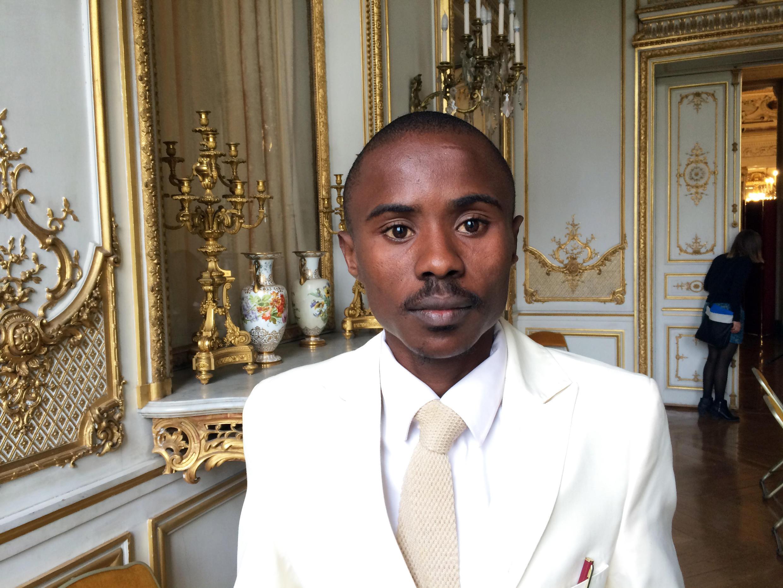 Trésor Chardon Nzila, directeur exécutif de l'OCDH, Observatoire Congolais des Droits de l'Homme, un des cinq lauréats du Prix des Droits de l'Homme de la République Française 2015.