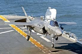 一架正在起飛的F35-B 戰機