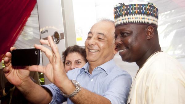 Editan Sashin Hausa na Radio France International Bashir Ibrahim Idris yayin bikin cika shekaru 10 da kafuwa.