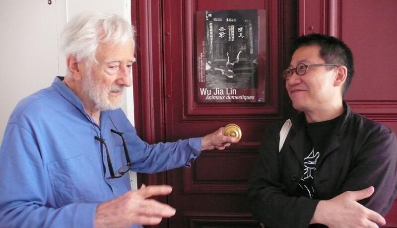 法國攝影師馬克-呂布 (Marc Riboud) 和他的中國巡展策畫人尚陸(Jean Loh)2010-09 Chine