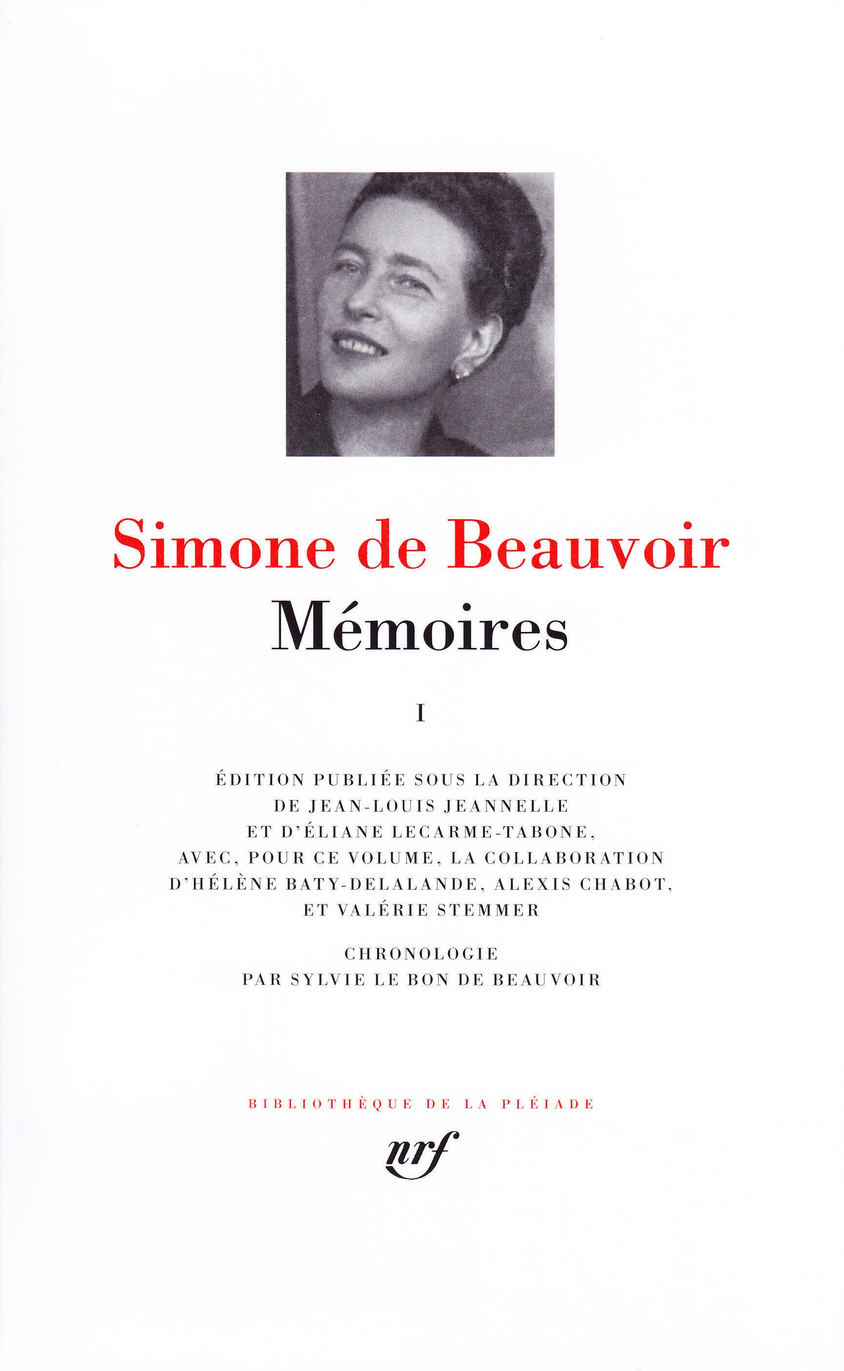 تصویر جلد اول آثار سیمون دوبووار در پلیاد