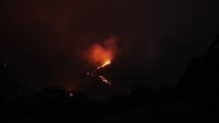 O vulcão Pacaya entrou em erupção na última quarta-feira.