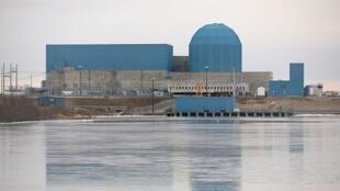 La centrale nucléaire de Clinton, en Illinois (Etats-Unis).