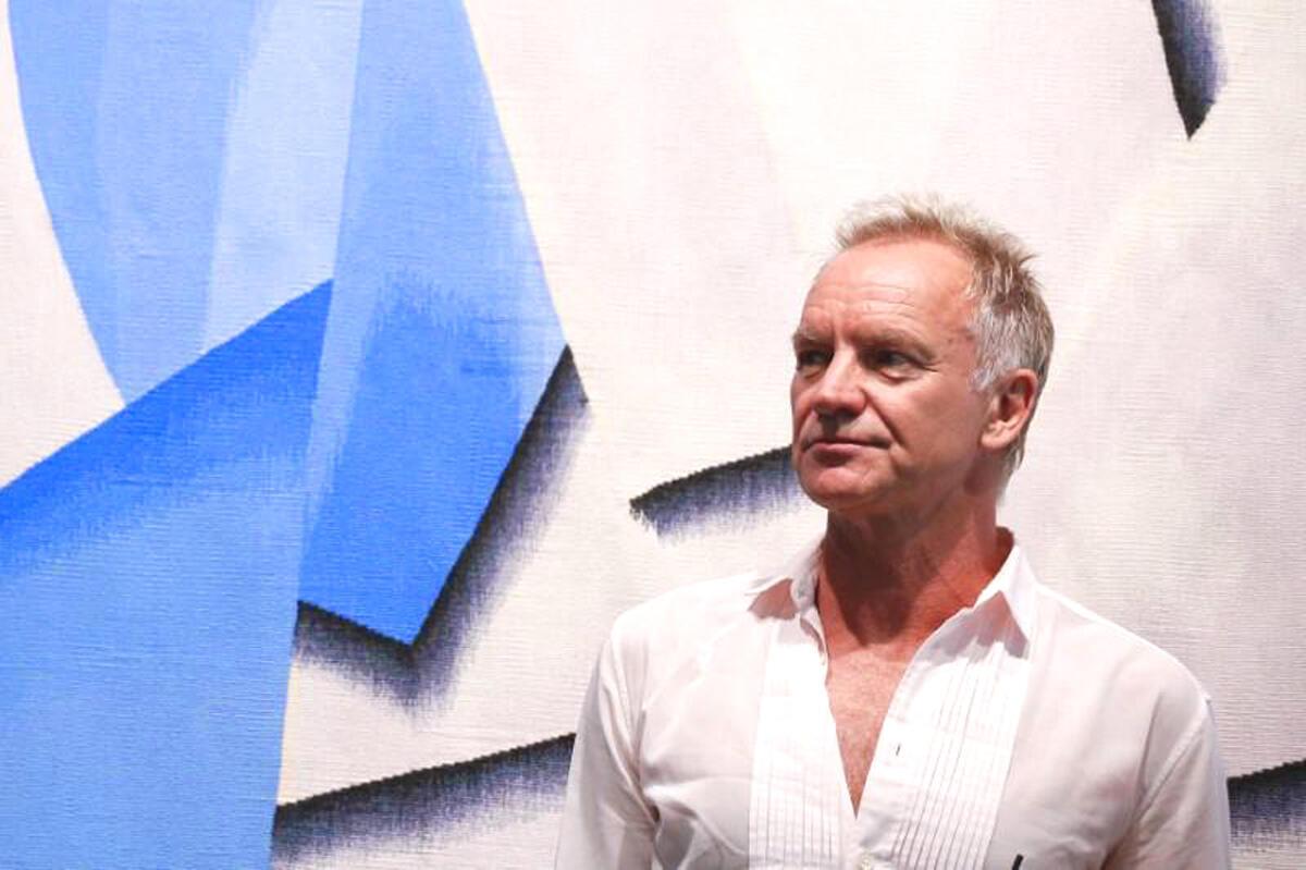 Nam danh ca Sting tham gia buổi hoà nhạc do Amnesty International tổ chức tại Athens, Hy Lạp 23/06/2018