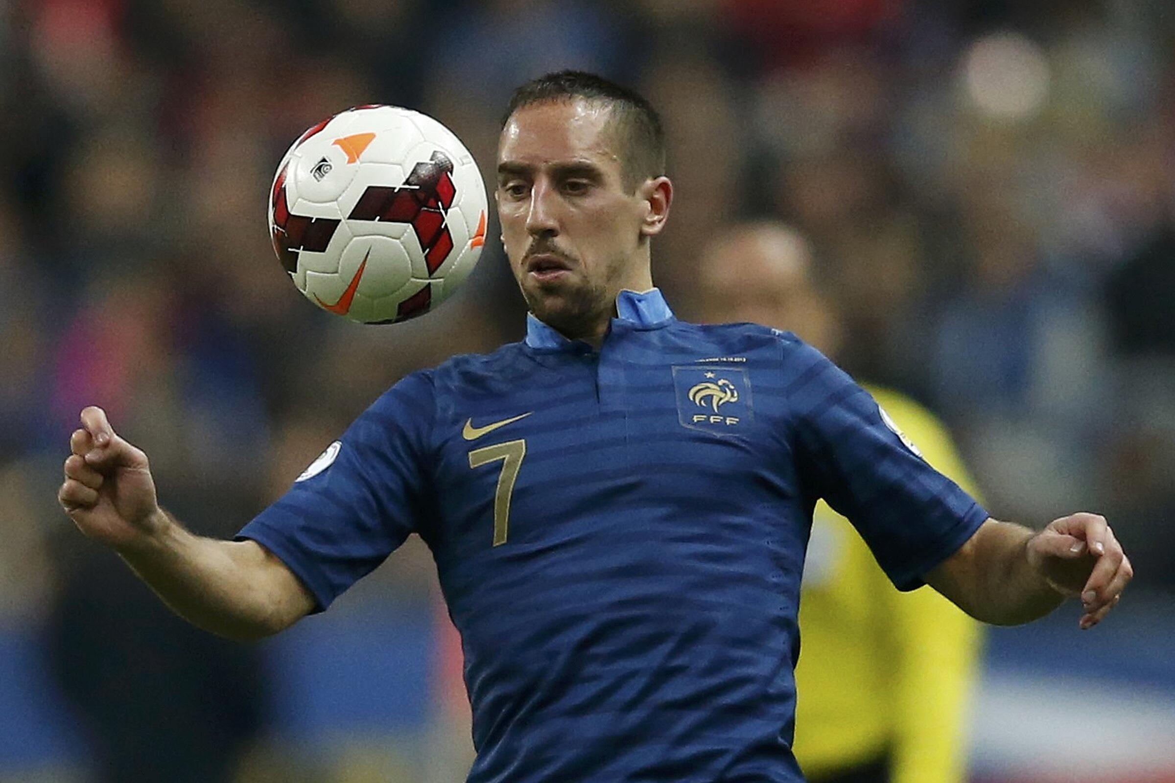 O atacante Franck Ribéry não vai para a Copa no Brasil.