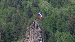 俄罗斯西伯利亚Divnogorsk镇附近2018年6月12日