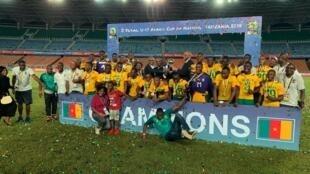 Les Lions Indomptables, ilishinda mechi hiyo dhidi ya Guinea baada ya kutoka sare ya 0-0 kwqa mikwaju (5-3).