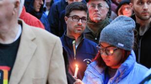 Акция памяти по погибшим в синагоге в Питтсбурге 27 октября 2018 г.