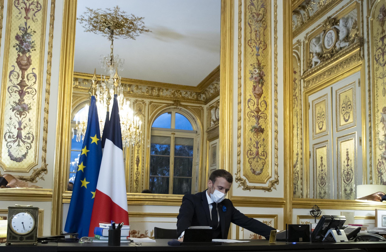 Le président français Emmanuel Macron à l'Elysée.