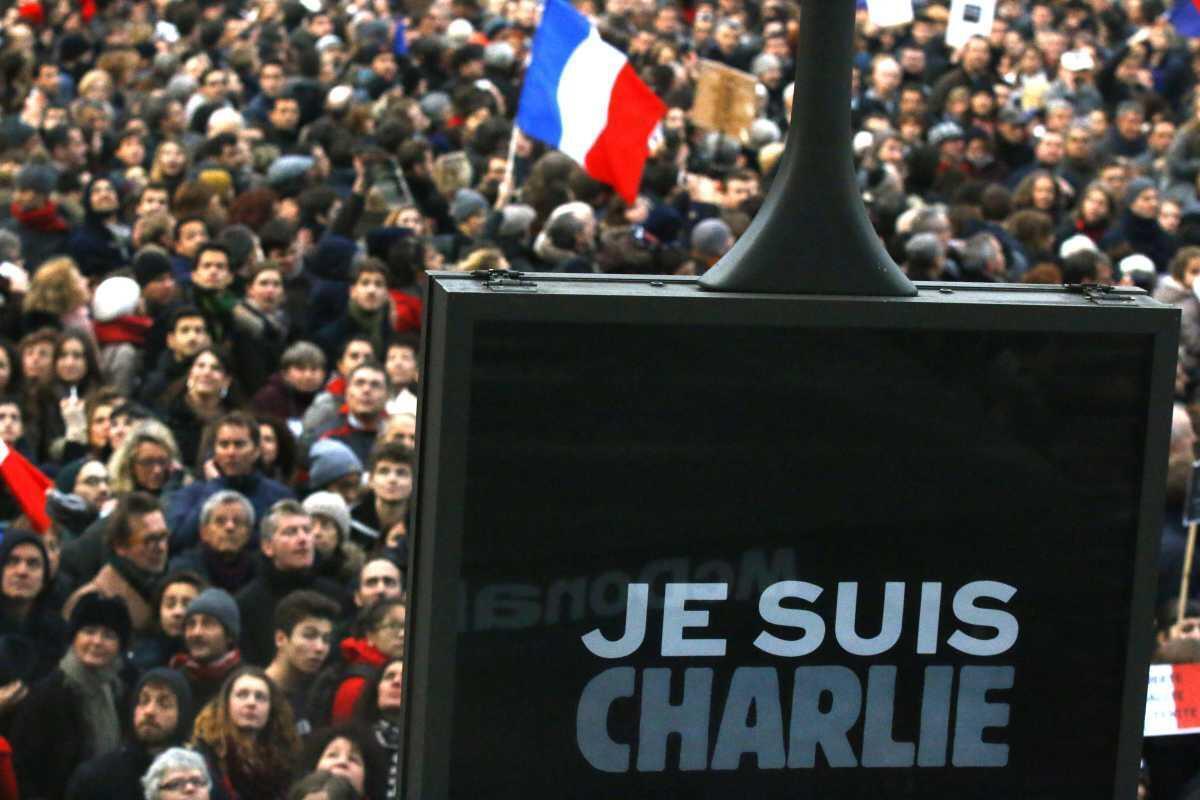 Hommage aux victimes de l'attentat de Charlie Hebdo.