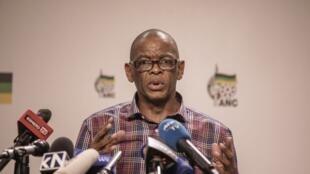 Le nouveau secrétaire général de l'ANC Ace Magashule, le 22 janvier, à Johannesbourg.