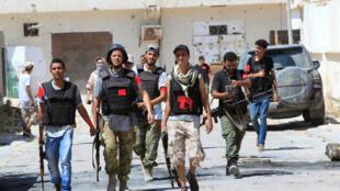 Troupes loyalistes à Syrte, le 29 août 2016.