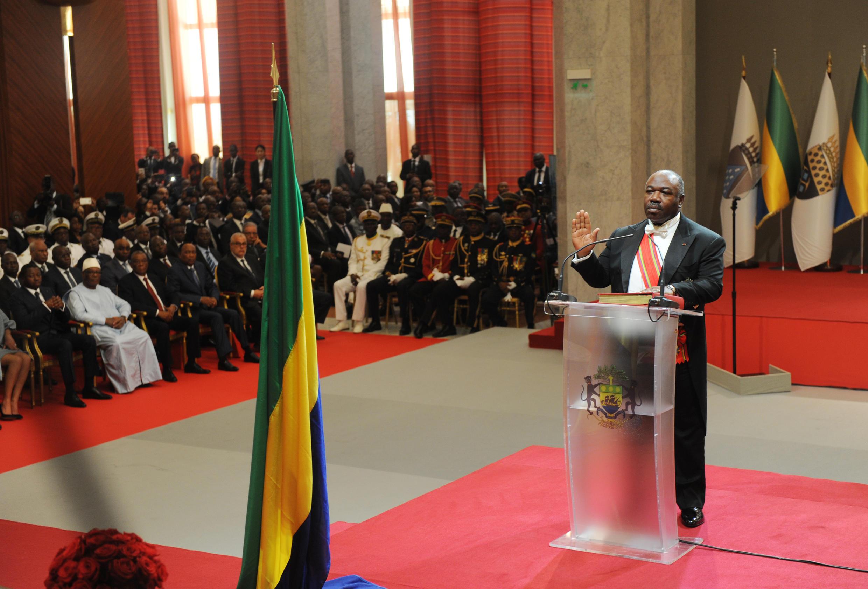 Le président Ali Bongo Ondimba a prêté serment, le 27 septembre 2016 à Libreville, au Gabon, pour un deuxième mandat.