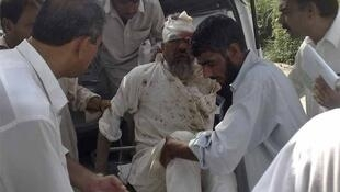A victim of the Lakki Marwat attack