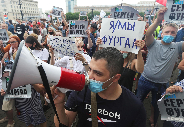 Очередная акция в защиту арестованного Сергея Фургала, Хабаровск, 1 августа