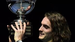 Stefanos Tsitsipas won his first ATP title in Stockholm in 2018.