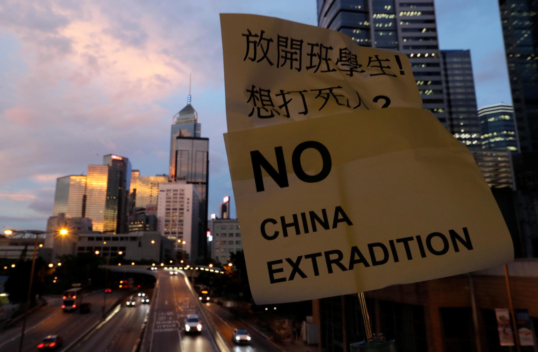 香港«反送中»运动 2019年6月13日  «Non à l'extradition vers la Chine». Hong Kong, le 13 juin 2019.