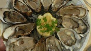 Hàu Nhật Bản, món ăn khoái khẩu của người dân Pháp trong bữa tiệc cuối năm.