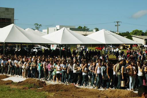 O Culto Ecumênico realizado na segunda-feira na UFSM, na retomada das aulas.