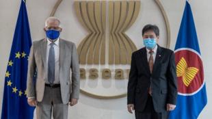 博雷利与东盟秘书处秘书长林玉辉资料图片