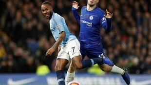 Raheem Sterling (left) was subjected to vicious racial abuse during the match against Chelsea at Stamford Bridge in December 2018.