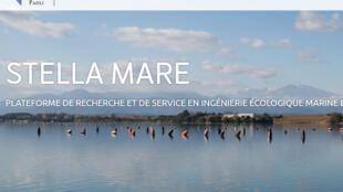 La page d'accueil du site Stella Mare
