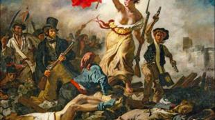 «La Liberté guidant le peuple», oeuvre emblématique de la peinture d'Eugène Delacroix, 1830.