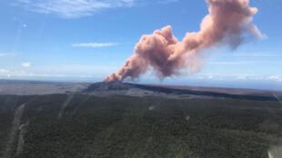 El volcán Kilauea el 3 de mayo, 2018.